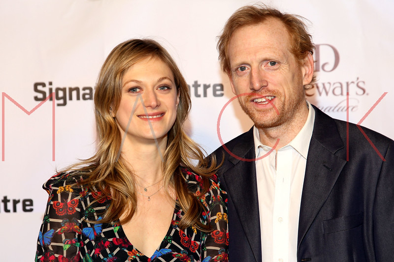 NEW YORK, NY - JANUARY 30:  Marin Ireland and Scott Shepherd attend The Signature Center Opening gala on January 30, 2012 in New York City.  (Photo by Steve Mack/S.D. Mack Pictures)
