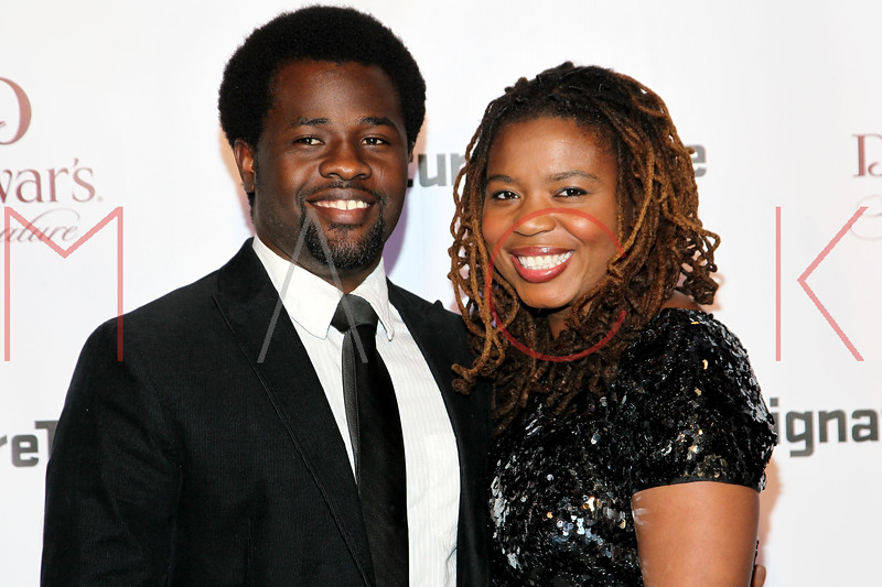 NEW YORK, NY - JANUARY 30:  Katori Hall (R) and guest attend The Signature Center Opening gala on January 30, 2012 in New York City.  (Photo by Steve Mack/S.D. Mack Pictures)