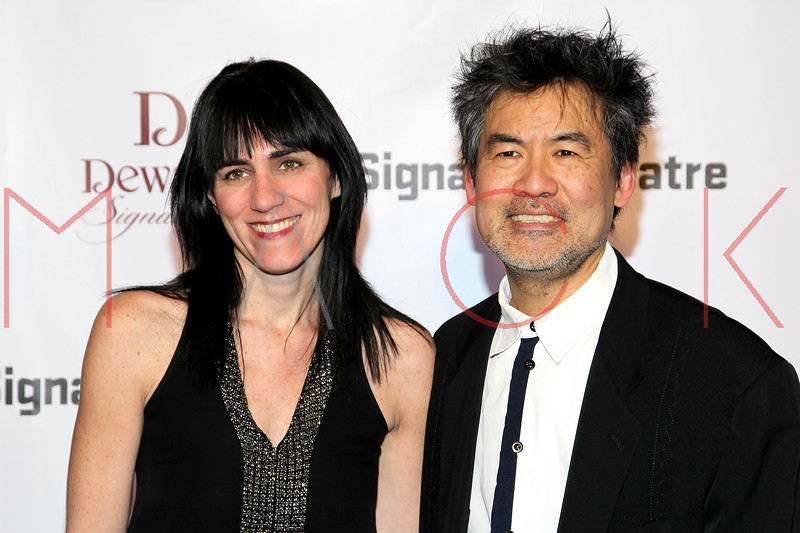 NEW YORK, NY - JANUARY 30:  Leigh Silverman and David Henry Hwang attend The Signature Center Opening gala on January 30, 2012 in New York City.  (Photo by Steve Mack/S.D. Mack Pictures)