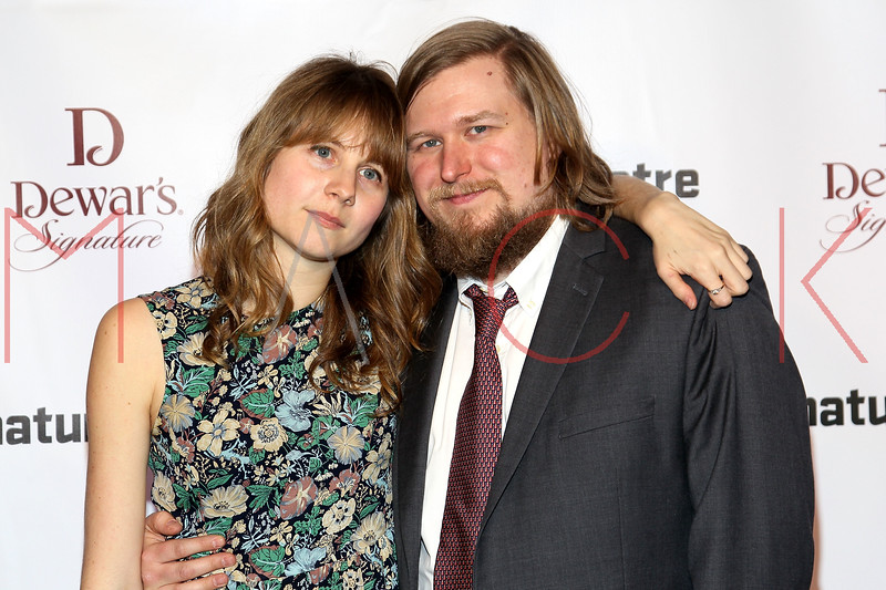 NEW YORK, NY - JANUARY 30:  Annie Baker and Michael Chernus attend The Signature Center Opening gala on January 30, 2012 in New York City.  (Photo by Steve Mack/S.D. Mack Pictures)