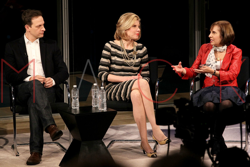 NEW YORK, NY - JANUARY 06:  Josh Charles and Christine Baranski attend the New York Times TimesTalk during the 2012 NY Times Arts & Leisure weekend at The Times Center on January 6, 2012 in New York City.  (Photo by Steve Mack/S.D. Mack Pictures)
