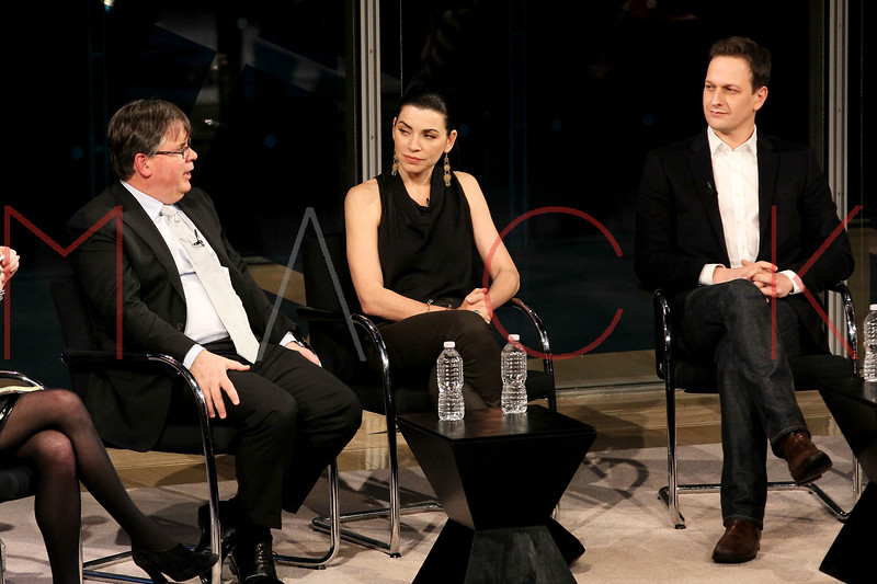 NEW YORK, NY - JANUARY 06:  Writer Robert King, actress Julianna Margulies and actor Josh Charles attend the New York Times TimesTalk during the 2012 NY Times Arts & Leisure weekend at The Times Center on January 6, 2012 in New York City.  (Photo by Steve Mack/S.D. Mack Pictures)