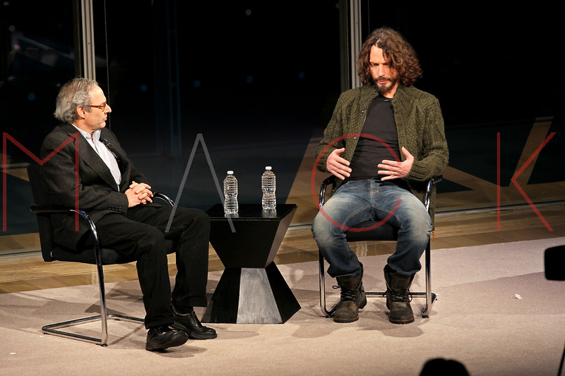 NEW YORK, NY - JANUARY 07:  David Carr and Michael Shannon attend the New York Times TimesTalk during the 2012 NY Times Arts & Leisure weekend at The Times Center on January 7, 2012 in New York City.  (Photo by Steve Mack/S.D. Mack Pictures)