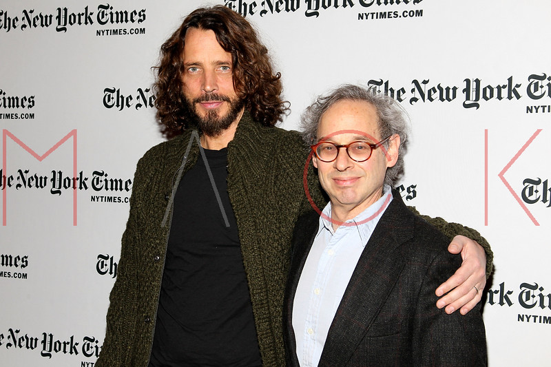 NEW YORK, NY - JANUARY 07:  Chris Cornell and Jon Pareless attend the New York Times TimesTalk during the 2012 NY Times Arts & Leisure weekend at The Times Center on January 7, 2012 in New York City.  (Photo by Steve Mack/S.D. Mack Pictures)