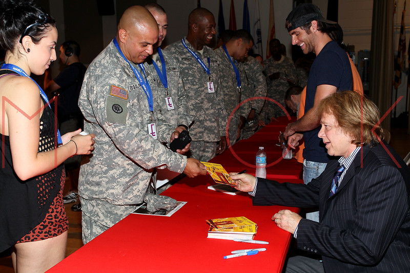 NEW YORK, NY - JULY 01:  Eddie Money (R) attends a meet and greet during a free Independence Day concert and fireworks display at 101st Street and Ft. Hamilton Parkway on July 1, 2012 in the Brooklyn borough of New York City.  (Photo by Steve Mack/S.D. Mack Pictures)