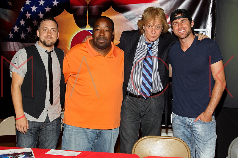 NEW YORK, NY - JULY 01:  Tommy Stanley, Bigg Marv, Eddie Money and Canaan Smith attend a meet and greet during a free Independence Day concert and fireworks display at 101st Street and Ft. Hamilton Parkway on July 1, 2012 in the Brooklyn borough of New York City.  (Photo by Steve Mack/S.D. Mack Pictures)