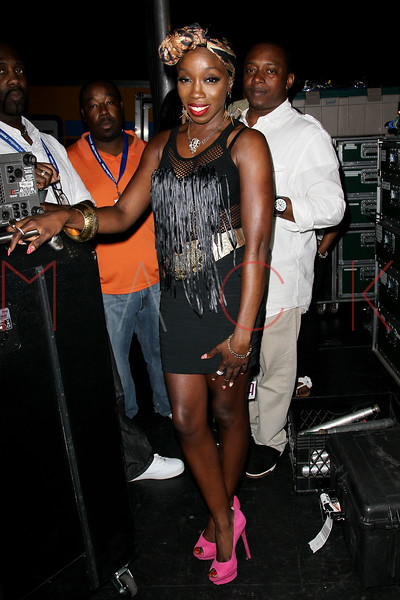 NEW YORK, NY - JULY 01:  Estelle poses back stage after her performance during a free Independence Day concert and fireworks display at 101st Street and Ft. Hamilton Parkway on July 1, 2012 in the Brooklyn borough of New York City.  (Photo by Steve Mack/S.D. Mack Pictures)