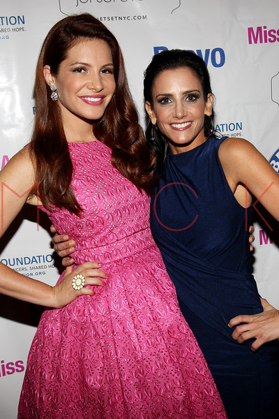"""NEW YORK, NY - JULY 23:  Julia Allison and Emily Morse attend the """"Miss Advised"""" viewing party at Scarlet Lounge on July 23, 2012 in New York City.  (Photo by Steve Mack/S.D. Mack Pictures)"""