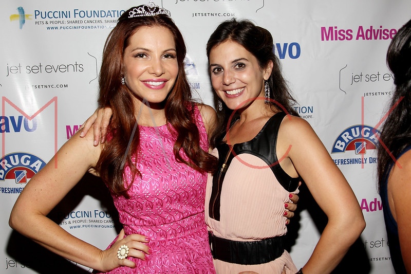 "NEW YORK, NY - JULY 23:  Julia Allison and Kristin Thorne attend the ""Miss Advised"" viewing party at Scarlet Lounge on July 23, 2012 in New York City.  (Photo by Steve Mack/S.D. Mack Pictures)"