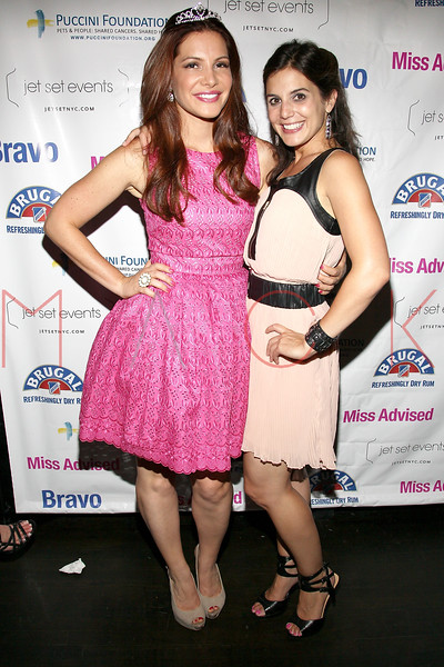 """NEW YORK, NY - JULY 23:  Julia Allison and Kristin Thorne attend the """"Miss Advised"""" viewing party at Scarlet Lounge on July 23, 2012 in New York City.  (Photo by Steve Mack/S.D. Mack Pictures)"""