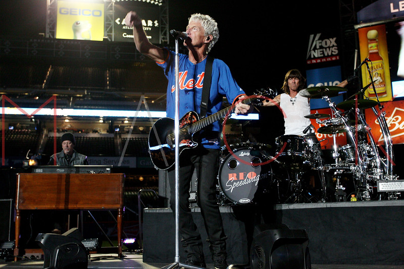 NEW YORK, NY - JUNE 15:  Neal Doughty, Kevin Cronin and Bryan Hitt perform during the New York Mets Summer Concert Series at Citi Field on June 15, 2012 in New York City.  (Photo by Steve Mack/S.D. Mack Pictures)