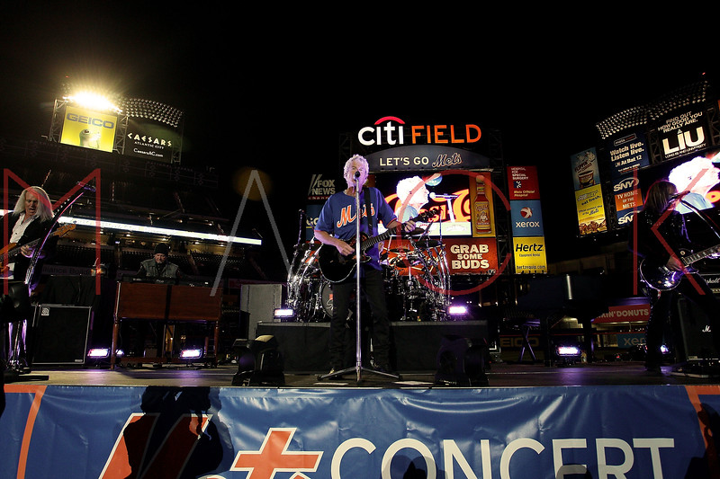 NEW YORK, NY - JUNE 15:  Bruce Hall, Kevin Cronin and Dave Amato perform during the New York Mets Summer Concert Series at Citi Field on June 15, 2012 in New York City.  (Photo by Steve Mack/S.D. Mack Pictures)