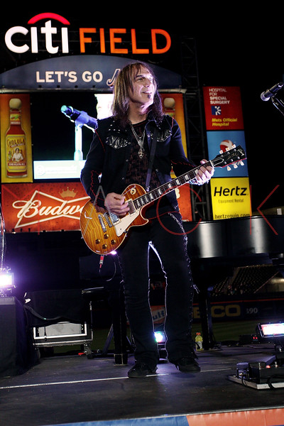 NEW YORK, NY - JUNE 15:  Dave Amato performs during the New York Mets Summer Concert Series at Citi Field on June 15, 2012 in New York City.  (Photo by Steve Mack/S.D. Mack Pictures)