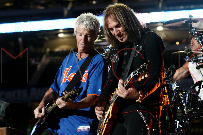 NEW YORK, NY - JUNE 15:  Kevin Cronin and Dave Amato perform during the New York Mets Summer Concert Series at Citi Field on June 15, 2012 in New York City.  (Photo by Steve Mack/S.D. Mack Pictures)