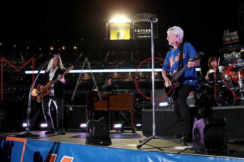 NEW YORK, NY - JUNE 15:  Bruce Hall, Neal Doughty, Kevin Cronin and Bryan Hitt perform during the New York Mets Summer Concert Series at Citi Field on June 15, 2012 in New York City.  (Photo by Steve Mack/S.D. Mack Pictures)