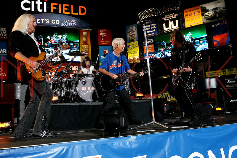 NEW YORK, NY - JUNE 15:  Bruce Hall, Bryan Hitt, Kevin Cronin and Dave Amato perform during the New York Mets Summer Concert Series at Citi Field on June 15, 2012 in New York City.  (Photo by Steve Mack/S.D. Mack Pictures)