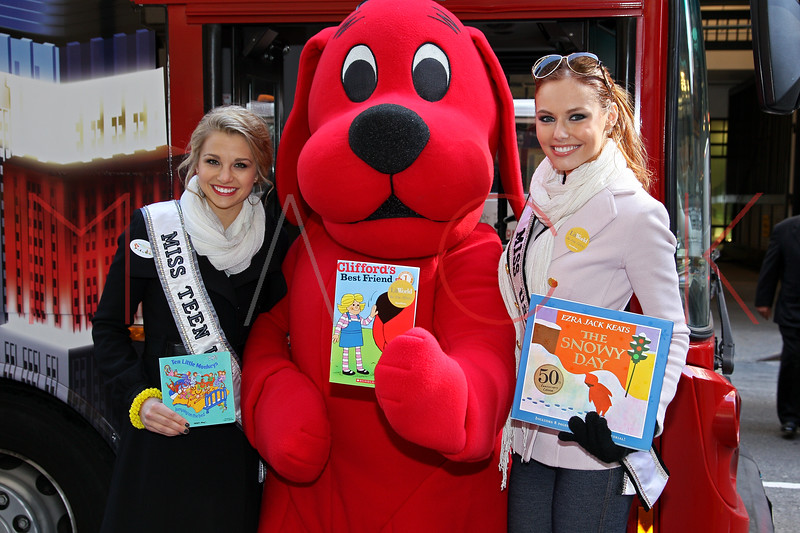 New York - March 07: Danielle Dotty, Clifford, Alyssa Campanella in attendance at the 2012 Annual World Read Out Loud Day at Books of Wonder on Wednesday, March 7, 2012 in New York, NY.  (Photo by Steve Mack/S.D. Mack Pictures)