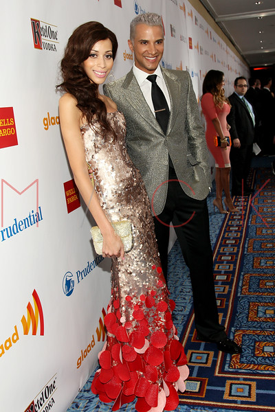 New York, NY - March 24: Isis King, Jay Manuel at the 23rd Annual GLAAD Media Awards in the Marriott Hotel on Saturday, March 24, 2012 in New York, NY.  (Photo by Steve Mack/S.D. Mack Pictures)