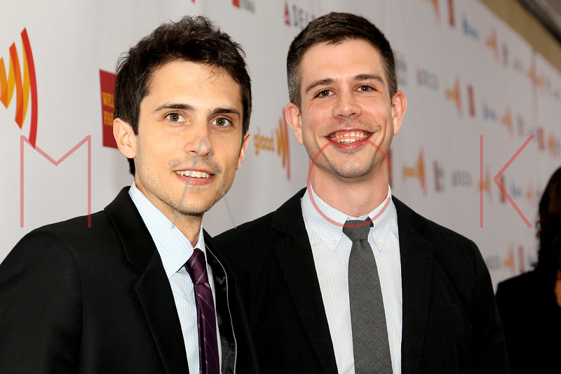 New York, NY - March 24: Charles Socarides, Stephen Karam at the 23rd Annual GLAAD Media Awards in the Marriott Hotel on Saturday, March 24, 2012 in New York, NY.  (Photo by Steve Mack/S.D. Mack Pictures)