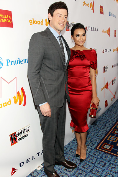 New York, NY - March 24: Cory Monteith, Naya Rivera at the 23rd Annual GLAAD Media Awards in the Marriott Hotel on Saturday, March 24, 2012 in New York, NY.  (Photo by Steve Mack/S.D. Mack Pictures)