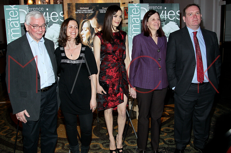 Brooklyn, NY - March 15: Terence Davies, Florence Almozini, Rachel Weisz, Karen Brooks Hopkins,  Sean O'Connor at THE DEEP BLUE SEA Premiere at BAM Rose Cinemas on Thursday, March 15, 2012 in Brooklyn, NY.  (Photo by Steve Mack/S.D. Mack Pictures)