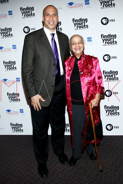 New York, NY - March 19: Cory Booker, Margaret Cooper at FINDING YOUR ROOTS Premiere Screening at Frederick P. Rose Hall, Jazz at Lincoln Center on Monday, March 19, 2012 in New York, NY.  (Photo by Steve Mack/S.D. Mack Pictures)