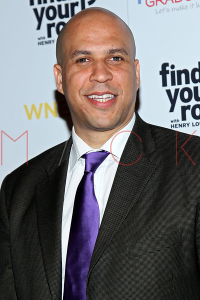New York, NY - March 19: Cory Booker at FINDING YOUR ROOTS Premiere Screening at Frederick P. Rose Hall, Jazz at Lincoln Center on Monday, March 19, 2012 in New York, NY.  (Photo by Steve Mack/S.D. Mack Pictures)