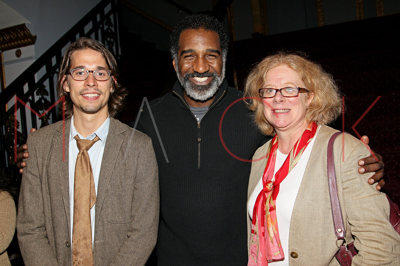 New York, NY - March 13: Patrick Berger, Norm Lewis, Victoria Bailey at The George and Ira Gershwin Theatre Education Program Launch Event at The Richard Rodgers Theatre on Tuesday, March 13, 2012 in New York, NY.  (Photo by Steve Mack/S.D. Mack Pictures)