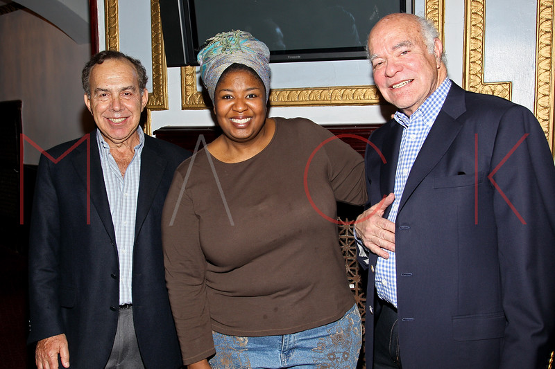 New York, NY - March 13: Marc Gershwin, Natasha Yvette-Williams, Mike Strunsky at The George and Ira Gershwin Theatre Education Program Launch Event at The Richard Rodgers Theatre on Tuesday, March 13, 2012 in New York, NY.  (Photo by Steve Mack/S.D. Mack Pictures)