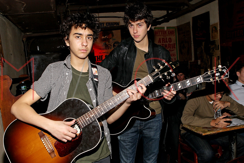 NEW YORK, NY - MARCH 05:  Alex Wolf and Nat Wolf attend the Hey U.G.L.Y. Foundation Benefit Concert Presented by New York Songwriters Circle at The Bitter End on March 5, 2012 in New York City.  (Photo by Steve Mack/S.D. Mack Pictures)