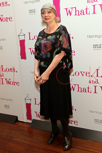 "NEW YORK, NY - MARCH 01:  Writer Ilene Beckerman attends the ""Love, Loss and What I Wore"" final cast change celebration at B. Smith's Restaurant on March 1, 2012 in New York City.  (Photo by Steve Mack/Getty Images)"