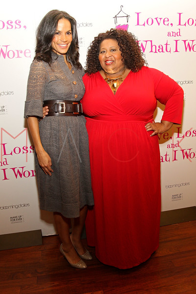 "NEW YORK, NY - MARCH 01:  Producer/writer Crystal McCrary Anthony and Actress Erica Watson attend the ""Love, Loss and What I Wore"" final cast change celebration at B. Smith's Restaurant on March 1, 2012 in New York City.  (Photo by Steve Mack/Getty Images)"