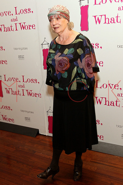 """NEW YORK, NY - MARCH 01:  Writer Ilene Beckerman attends the """"Love, Loss and What I Wore"""" final cast change celebration at B. Smith's Restaurant on March 1, 2012 in New York City.  (Photo by Steve Mack/Getty Images)"""