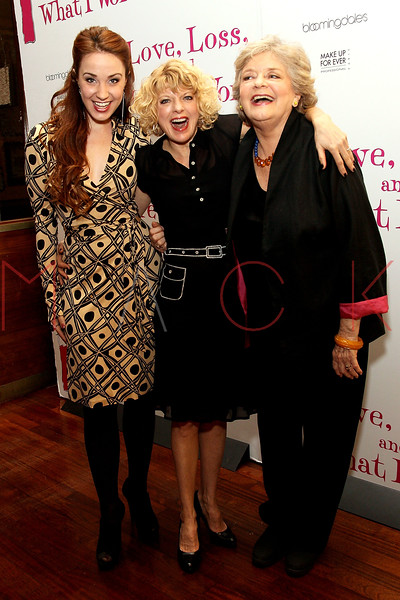 """NEW YORK, NY - MARCH 01:  Actresses Sierra Bogges, Karyn Quackenbush and Joyce van Patten attend the """"Love, Loss and What I Wore"""" final cast change celebration at B. Smith's Restaurant on March 1, 2012 in New York City.  (Photo by Steve Mack/Getty Images)"""