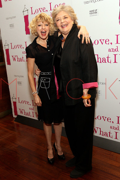 """NEW YORK, NY - MARCH 01:  Actress Karyn Quackenbush and actress Joyce van Patten attend the """"Love, Loss and What I Wore"""" final cast change celebration at B. Smith's Restaurant on March 1, 2012 in New York City.  (Photo by Steve Mack/Getty Images)"""