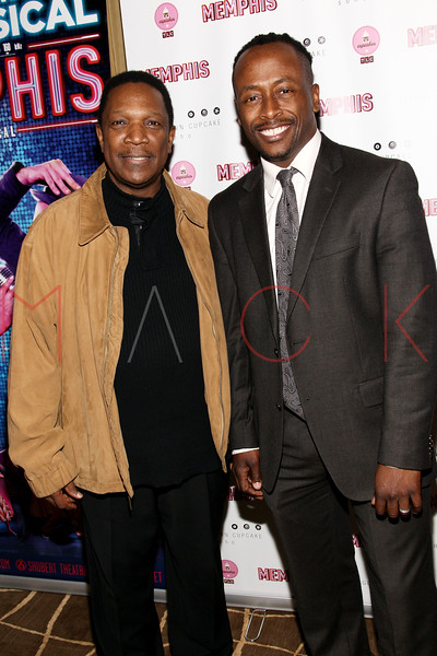 New York, NY - March 14: Shelton Becton, Kenny Seymour at Celebration of MEMPHIS' 1000th Performance On Broadway at 48 Lounge on Wednesday, March 14, 2012 in New York, NY.  (Photo by Steve Mack/S.D. Mack Pictures)