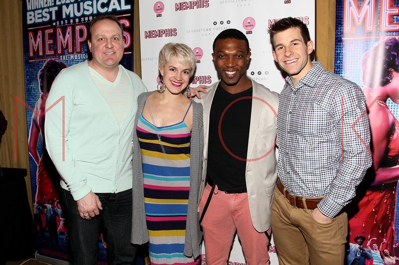 New York, NY - March 14: Kevin Covert, Betsy Struxness, Tyrone A. Jackson, Charlie Williams at Celebration of MEMPHIS' 1000th Performance On Broadway at 48 Lounge on Wednesday, March 14, 2012 in New York, NY.  (Photo by Steve Mack/S.D. Mack Pictures)