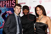 New York, NY - March 14: Cody Williams, Daniel J. Watts, Ashley Blanchet at Celebration of MEMPHIS' 1000th Performance On Broadway at 48 Lounge on Wednesday, March 14, 2012 in New York, NY.  (Photo by Steve Mack/S.D. Mack Pictures)