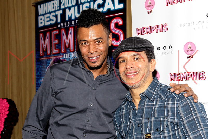 New York, NY - March 14: Edgar Godineaux, Sergio Trujillo at Celebration of MEMPHIS' 1000th Performance On Broadway at 48 Lounge on Wednesday, March 14, 2012 in New York, NY.  (Photo by Steve Mack/S.D. Mack Pictures)