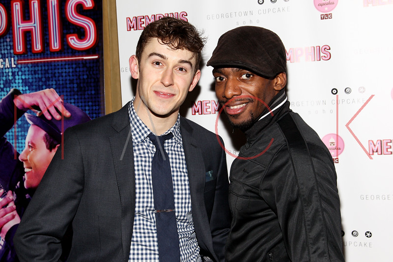 New York, NY - March 14: Cody Williams, Daniel J. Watts at Celebration of MEMPHIS' 1000th Performance On Broadway at 48 Lounge on Wednesday, March 14, 2012 in New York, NY.  (Photo by Steve Mack/S.D. Mack Pictures)