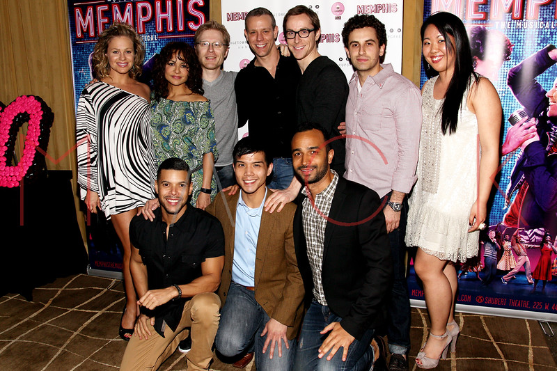 New York, NY - March 14: Anthony Rapp, Adam Pascal, Wilson Cruz, Telly Lung at Celebration of MEMPHIS' 1000th Performance On Broadway at 48 Lounge on Wednesday, March 14, 2012 in New York, NY.  (Photo by Steve Mack/S.D. Mack Pictures)