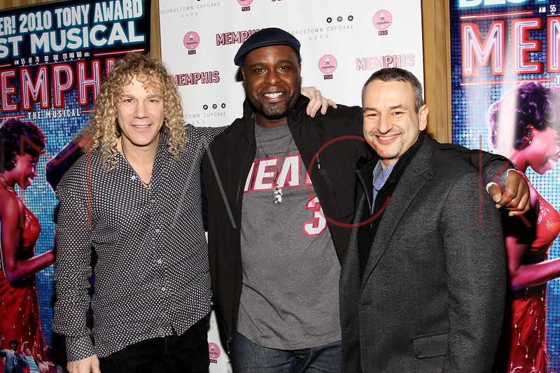 New York, NY - March 14: David Bryan, J. Bernard Calloway, Joe DiPietro at Celebration of MEMPHIS' 1000th Performance On Broadway at 48 Lounge on Wednesday, March 14, 2012 in New York, NY.  (Photo by Steve Mack/S.D. Mack Pictures)