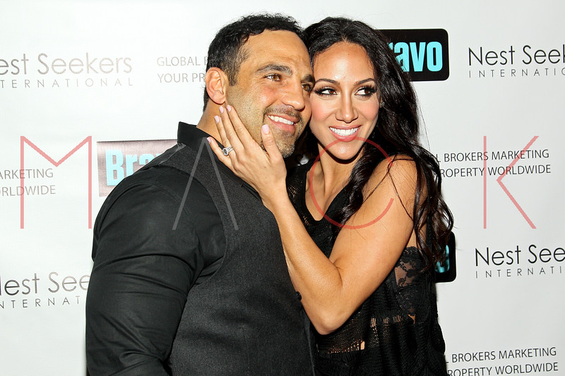 New York, NY - March 02: Joe Gorga, Melissa Gorga at the 'Million Dollar Listing New York' premiere at Catch Roof on Friday, March 2, 2012 in New York, NY.  (Photo by Steve Mack/S.D. Mack Pictures)