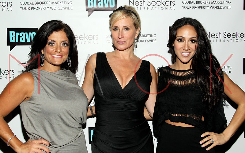 New York, NY - March 02: Kathy Wakile, Sonja Morgan, Melissa Gorga at the 'Million Dollar Listing New York' premiere at Catch Roof on Friday, March 2, 2012 in New York, NY.  (Photo by Steve Mack/S.D. Mack Pictures)