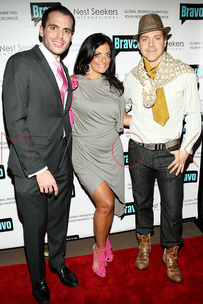 New York, NY - March 02: Nick Jabbour, Kathy Wakile, Socialite EricAndrew at the 'Million Dollar Listing New York' premiere at Catch Roof on Friday, March 2, 2012 in New York, NY.  (Photo by Steve Mack/S.D. Mack Pictures)