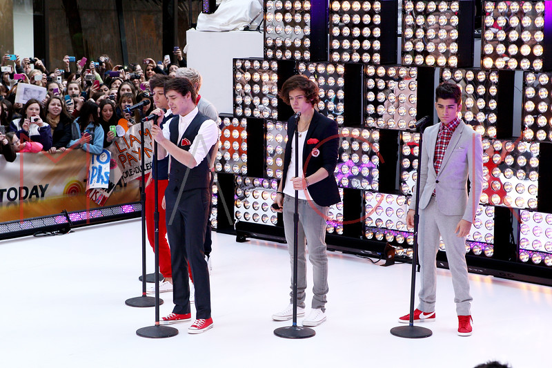 New York, NY - March 12: Liam Payne, Harry Styles, Zayn Malik at NBC Today Show Concert with One Direction at Rockefeller Plaza on Monday, March 12, 2012 in New York, NY.  (Photo by Steve Mack/S.D. Mack Pictures)