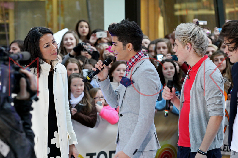 New York, NY - March 12: Ann Curry, Zayn Malik, Niall Horan at NBC Today Show Concert with One Direction at Rockefeller Plaza on Monday, March 12, 2012 in New York, NY.  (Photo by Steve Mack/S.D. Mack Pictures)