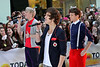 New York, NY - March 12: Niall Horan, Harry Styles, Louis Tomlinson at NBC Today Show Concert with One Direction at Rockefeller Plaza on Monday, March 12, 2012 in New York, NY.  (Photo by Steve Mack/S.D. Mack Pictures)