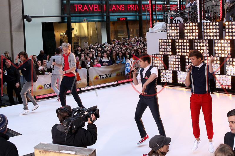 New York, NY - March 12: Harry Styles, Niall Horan, Liam Payne, Louis Tomlinson at NBC Today Show Concert with One Direction at Rockefeller Plaza on Monday, March 12, 2012 in New York, NY.  (Photo by Steve Mack/S.D. Mack Pictures)