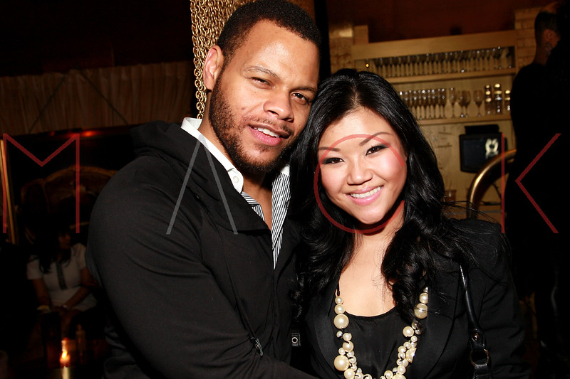 NEW YORK, NY - MARCH 11:  Damien Alexander and Cat Ahn attend Sylvia Rhone's surprise birthday party at Goldbar on March 11, 2012 in New York City.  (Photo by Steve Mack/S.D. Mack Pictures)